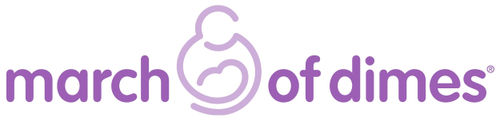March of Dimes logo purple